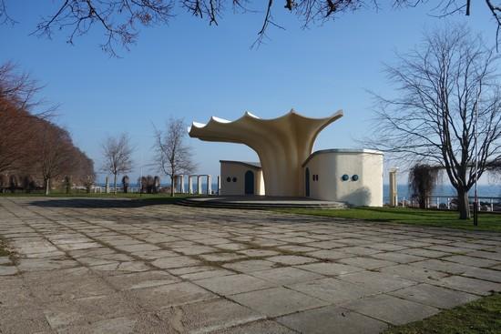 Kurmuschel in Sassnitz: Schalenbau von Ulrich Müther