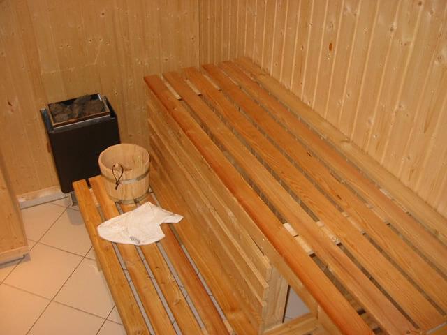 Sauna in der Remise