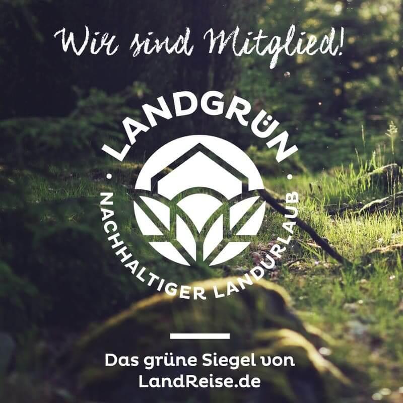 Nachhaltigkeitssiegel von Landreise.de